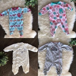 Bundle of 4 sleepers 0-3 months & 3 months size